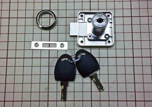 画像1: 内筒交換式面付け錠CLロック 板厚:32mm