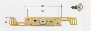画像1: ★TYストックハウス タクボ物置 シャッター錠